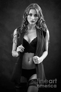Beautiful Woman Undressing by Aleksey Tugolukov
