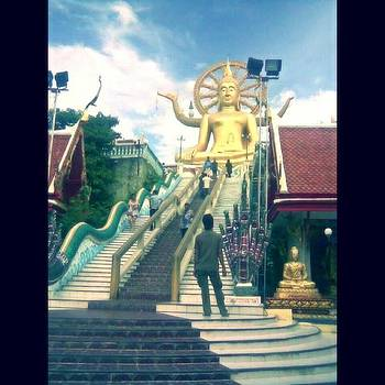 Big Buddha Temple  it Sits by Eman Allam