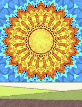 Big Sun In A Blue Sky by Phil Perkins