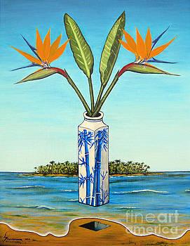 Birds of Paradise Over Fiji by Jerome Stumphauzer