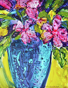 Blue Vase by Filomena Booth