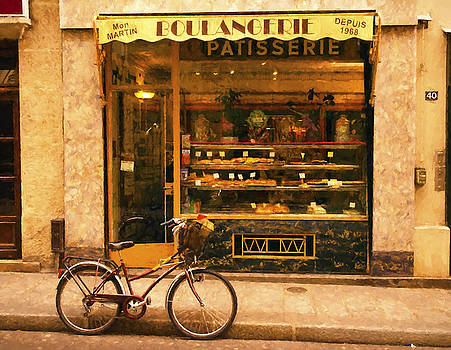 Boulangerie and Bike by Mick Burkey