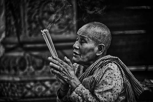 Buddhist Nun Prayers by David Longstreath