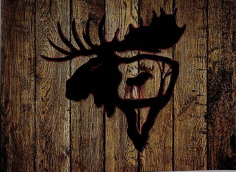 Bull Moose by Larry Campbell