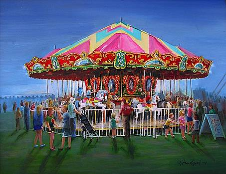 Carousel At Dusk by Oz Freedgood