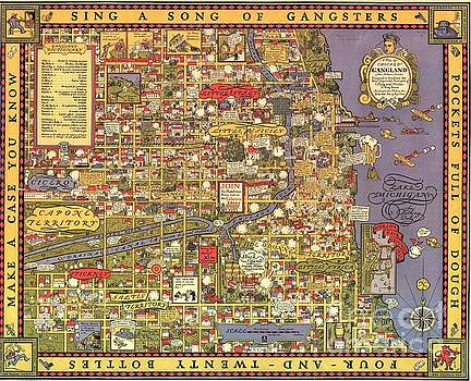 Chicago gangland map by Roberto Prusso
