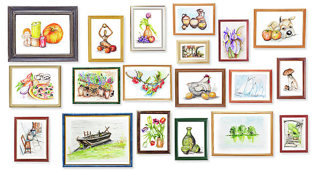 Children's Exhibition Of Watercolor Arts by Aleksandr Volkov