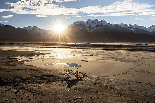 Chilkat River Sunset by Michele Cornelius