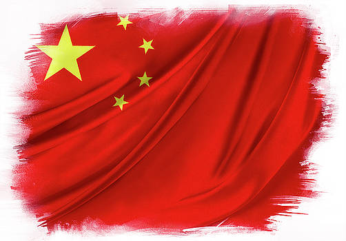 China flag  by Les Cunliffe