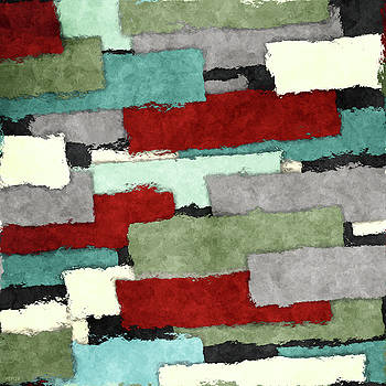 Colorful Patches Abstract by Phil Perkins