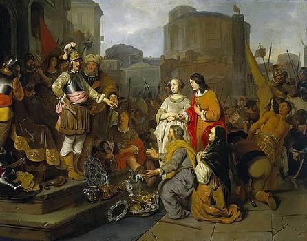 Continence of Scipio by Gerbrand van den Eeckhout