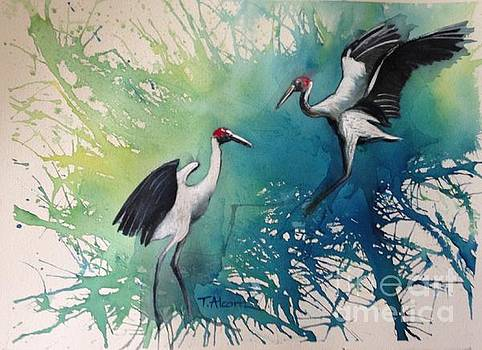 Dance of the Brolgas - original sold by Therese Alcorn
