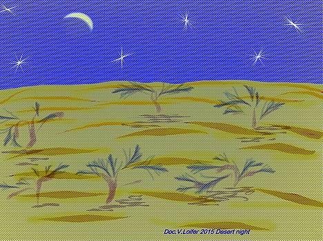 Desert night by Dr Loifer Vladimir
