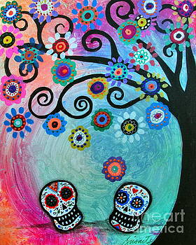PRISTINE CARTERA TURKUS - DIA DE LOS MUERTOS WEDDING COUPLE
