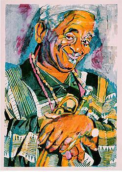 Dizzy Gillespie by Ellen Lefrak