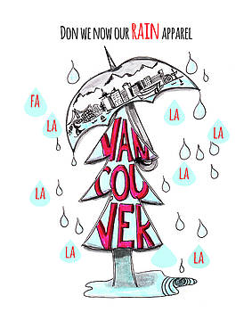 Don we now our RAIN apparel by Nancy Harrison