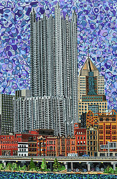 Downtown Pittsburgh - View from Smithfield Street Bridge by Micah Mullen
