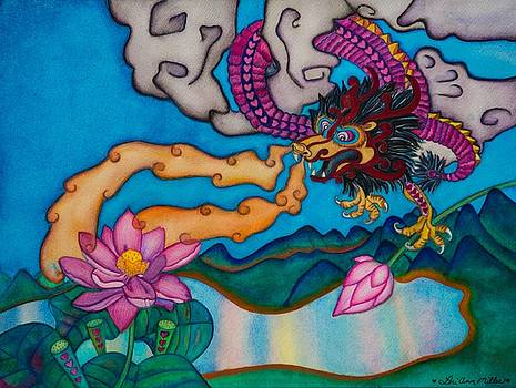 Dragon Heart and Lotus Flower by Lori Miller