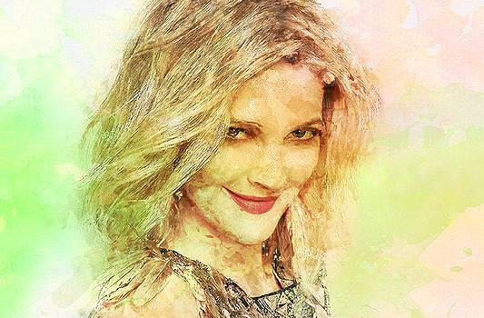 Drew Barrymore by Elena Kosvincheva