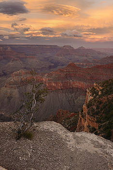 Dusk From Mather Point by Stephen  Vecchiotti
