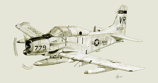 EA-1F on Patrol by Nicholas Linehan