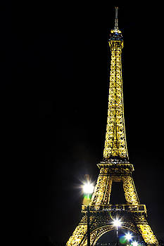 Eiffel at Night by Andrew Soundarajan
