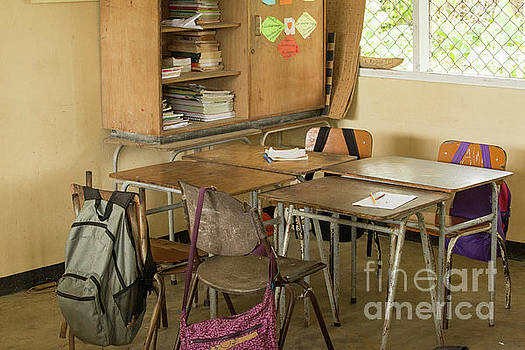 Empty classroom in Suriname  by Patricia Hofmeester
