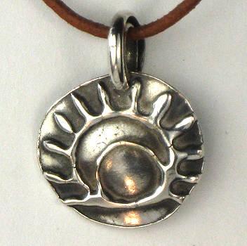 Esprit Del Sol Fine Silver Necklace by Virginia Vivier