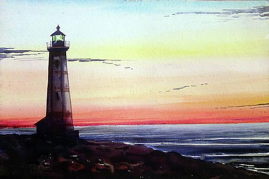 Evening Lighthouse by Samiran Sarkar