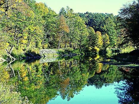 Fall on the Ottauquechee River by Joseph Hendrix