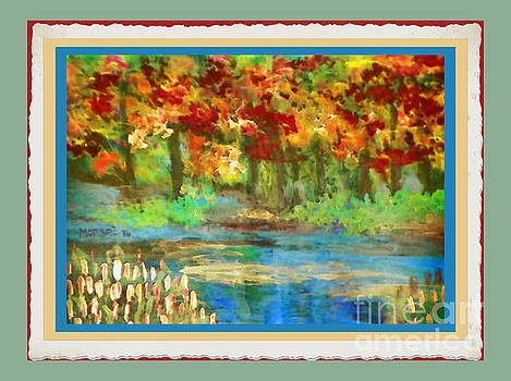 Fall Riverbank by Shirley Moravec