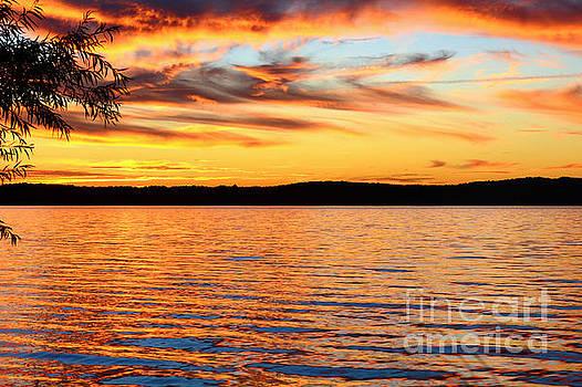 Fiery Sunset by Kelly Nowak