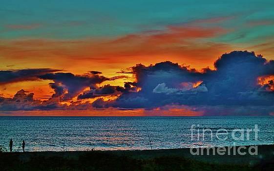 Fishing at Sunset by Craig Wood