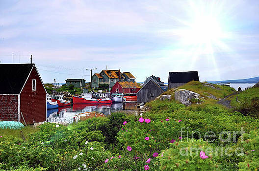 Fishing Village by Elaine Manley