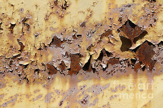 Flaky Paint On The Old Rusty Metal by Michal Boubin