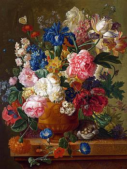 Flowers in a Vase by Paulus Theodorus
