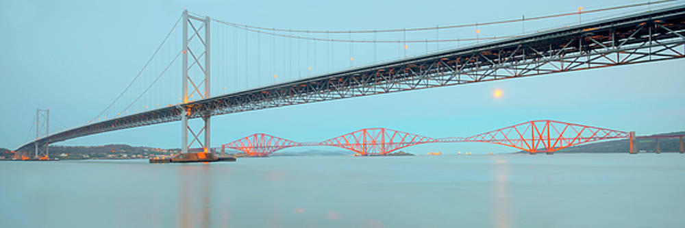 Forth Bridges Panorama by Ray Devlin