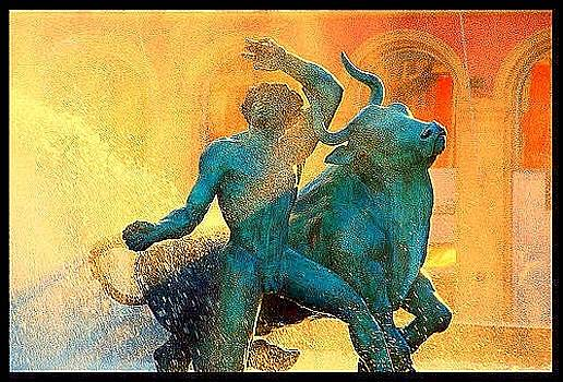 Fountain in Nice by Betsy Moran