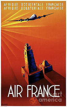 France Vintage Travel Poster Restored by Carsten Reisinger