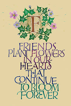 Friendship Calligraphy Print by Dave Wood