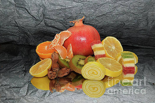 Fruits With Candies by Elvira Ladocki