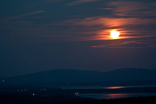 Full Moon Over Acadia III by Greg DeBeck