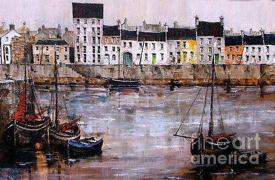 IRELAND CANADA LINKS.. GALWAY.. Cladagh Harbour  by Val Byrne
