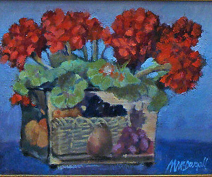 Geraniums by Michael McDougall