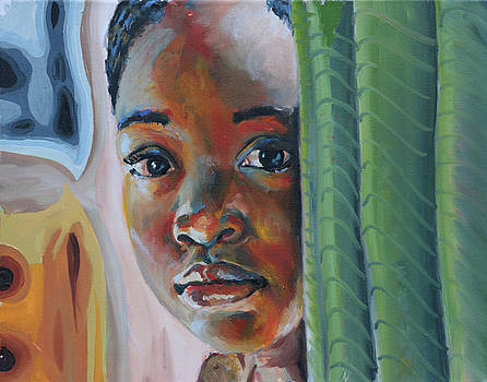 Girl Behind the Green Curtain by Gary Williams