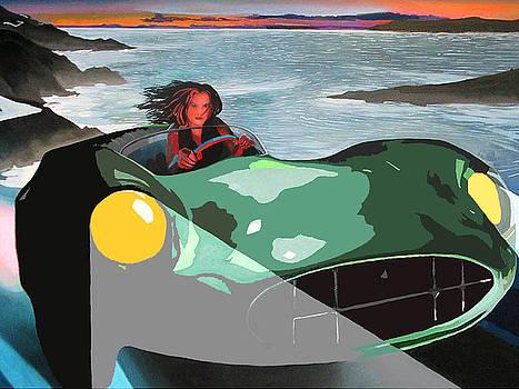Girl In Green Aston by Geoff Greene