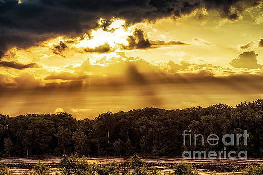 God Light Missouri River by Thomas R Fletcher