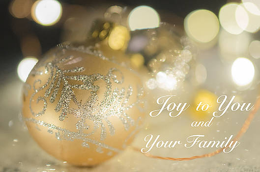 Golden Christmas Decoration by Kelly Anderson