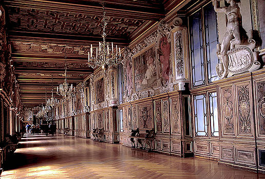 Grand Hall in Fontainebleau in France by Carl Purcell