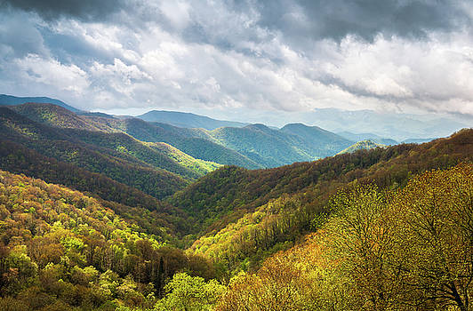Great Smoky Mountains North Carolina Spring Scenic Landscape by Dave Allen